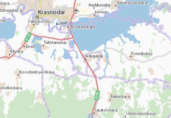 Kaart Plattegrond Adygeysk