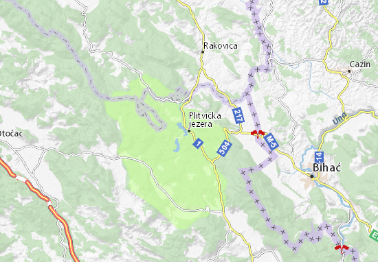 Carte-Plan Plitvička jezera