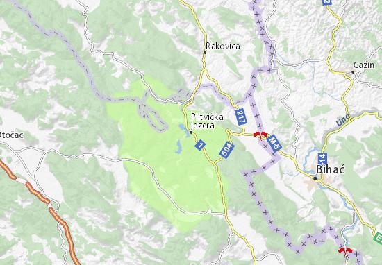 Plitvička jezera Map