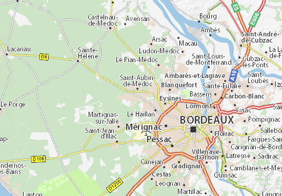 Mapa Plano Saint-Médard-en-Jalles