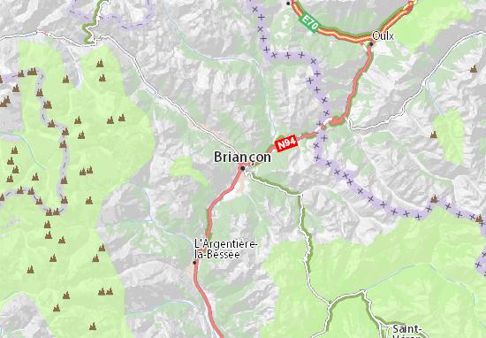 Mapa Plano Briançon