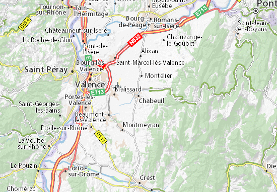 Mappe-Piantine Chabeuil