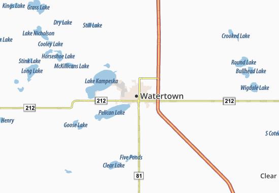 Map of Watertown - Michelin Watertown map - ViaMichelin