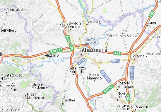 Cartina Dettagliata Piemonte.Mappa Michelin Alessandria Pinatina Di Alessandria Viamichelin