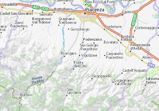 Karte Stadtplan Vigolzone