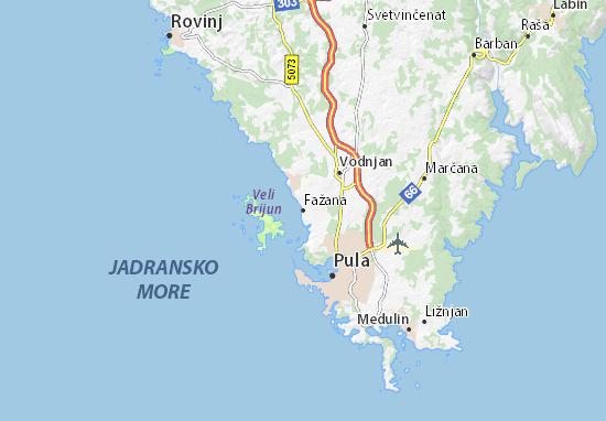 Kaart Plattegrond Fažana