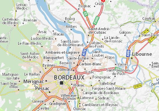 Ambarès-et-Lagrave Map