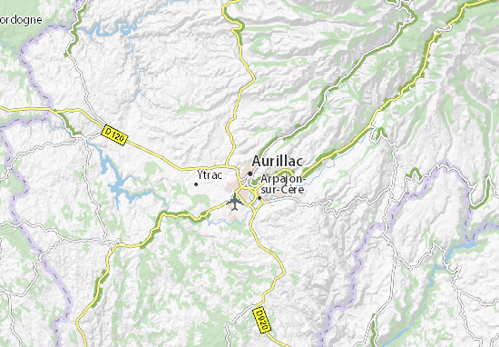 Aurillac Map