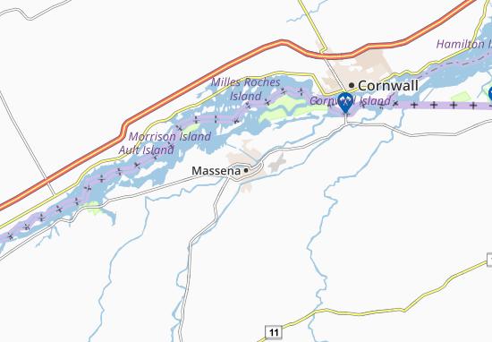 Kaart Plattegrond Massena
