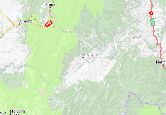 Kaart Plattegrond Bozovici