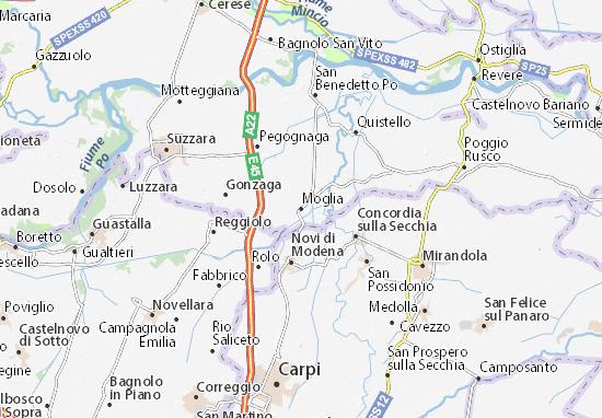 Karte Stadtplan Moglia