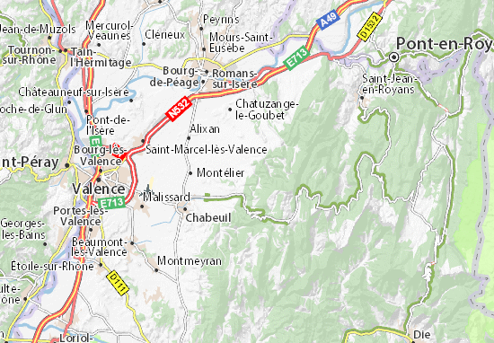 Carte-Plan Saint-Vincent-la-Commanderie