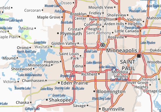 Saint Louis Park Map