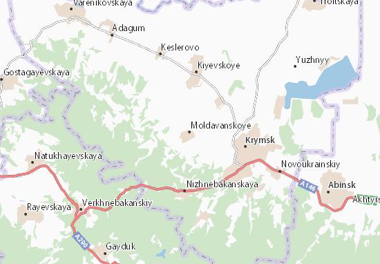 Kaart Plattegrond Moldavanskoye