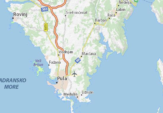 Marčana Map