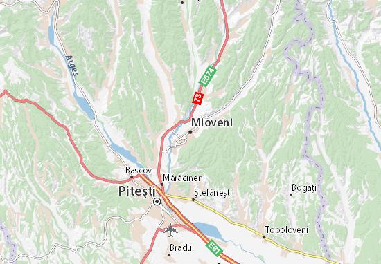 Mapa Plano Mioveni