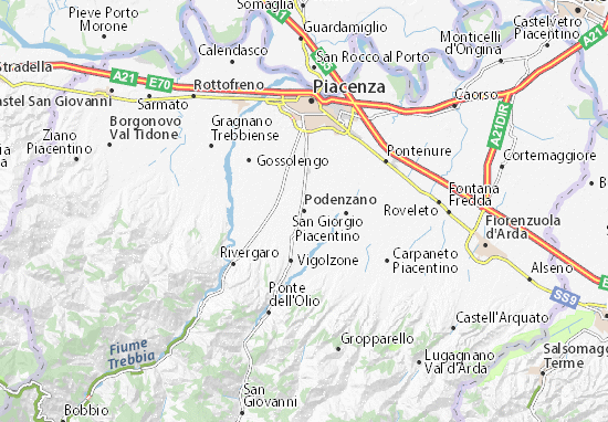 Carte-Plan Podenzano