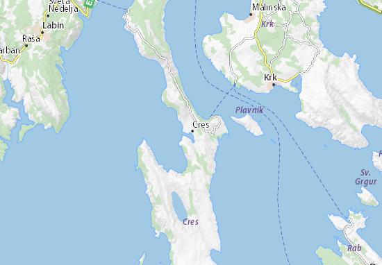 Kaart Plattegrond Cres