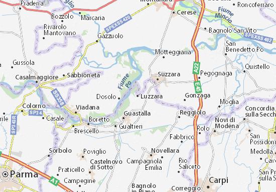 Karte Stadtplan Luzzara