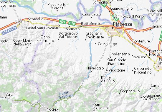 Karte Stadtplan Gazzola