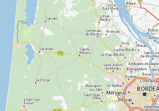 Karte Stadtplan Sainte-Hélène