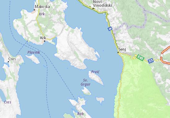 Cartina Stradale Baska Croazia.Mappa Baska Cartina Baska Viamichelin