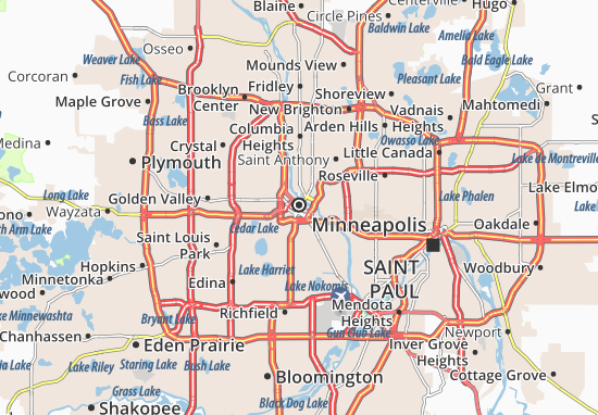 Map of Minneapolis Michelin Minneapolis map ViaMichelin – Minneapolis Tourist Attractions Map