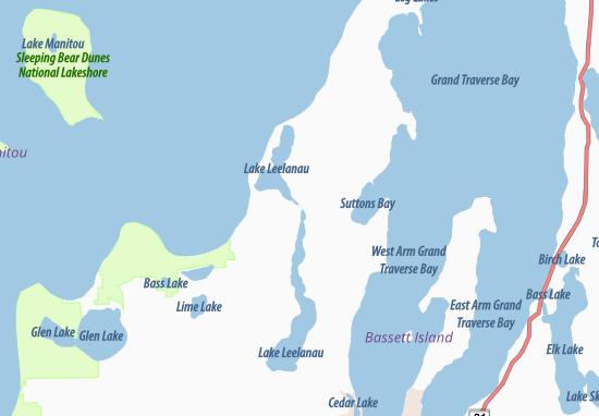 Map Of Lake Leelanau Michelin Lake Leelanau Map Viamichelin