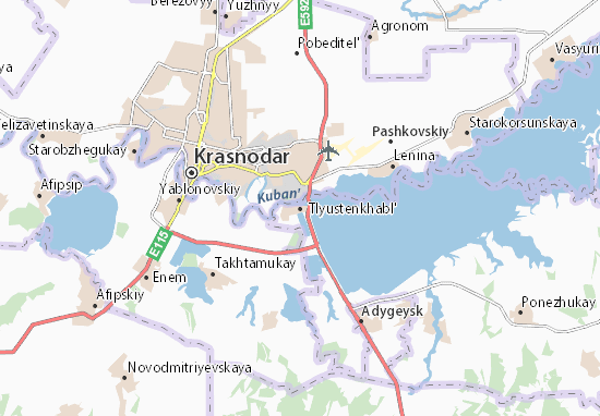 Tlyustenkhabl' Map