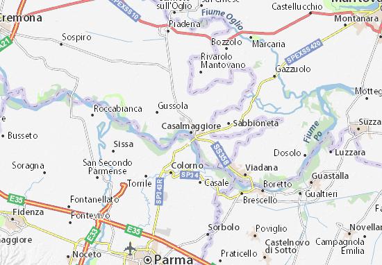 Casalmaggiore Map