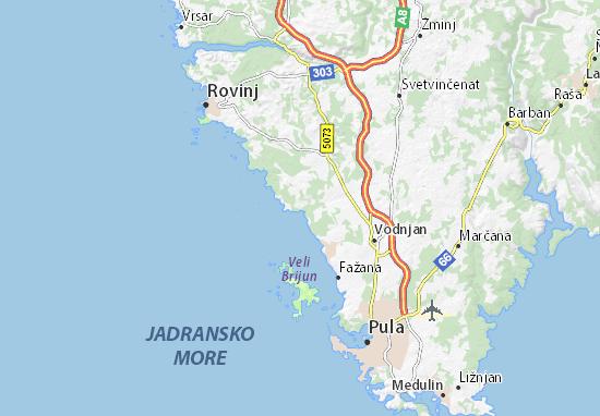 Karte Kroatien Pula.Karte Stadtplan Barbariga Viamichelin
