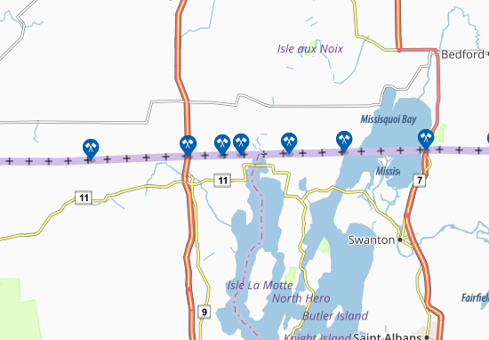Rouses Point Map