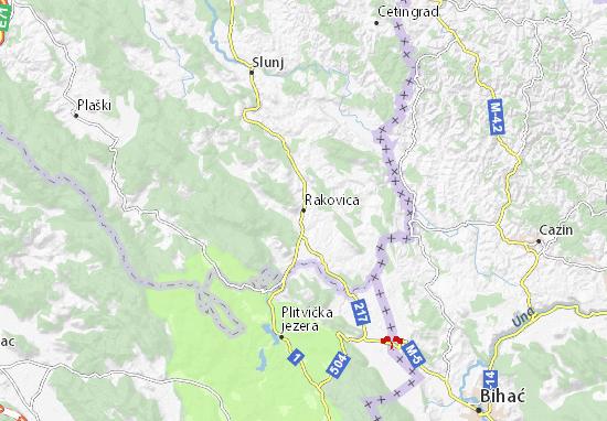 rakovica mapa Mapa Rakovica   plano Rakovica   ViaMichelin rakovica mapa