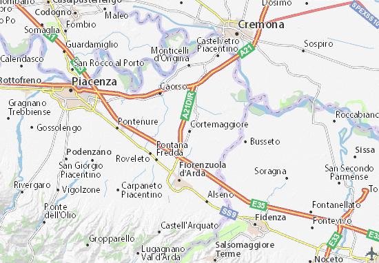 Karte Stadtplan Cortemaggiore