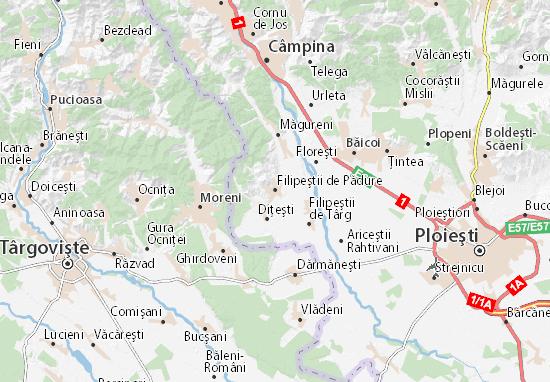 Mapa Plano Filipeştii de Pădure