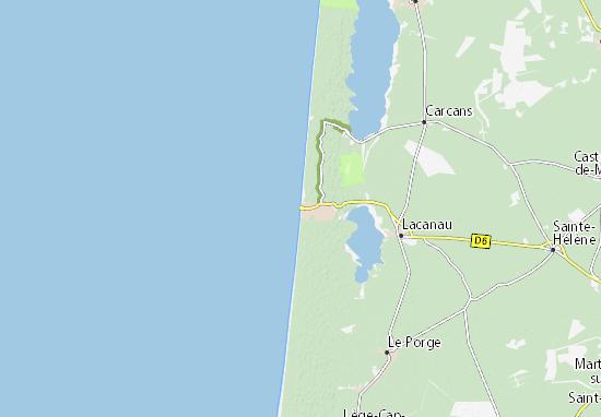 Carte-Plan Lacanau-Océan