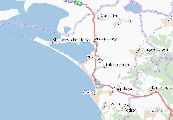 Vityazevo Map
