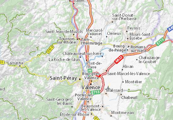 Carte-Plan Pont-de-l'Isère