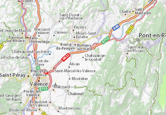 Chatuzange-le-Goubet Map