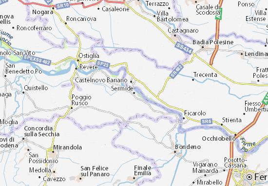 Karte Stadtplan Sermide
