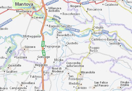 Mapa Plano Quistello