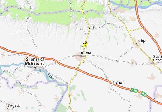 Mapa Plano Ruma
