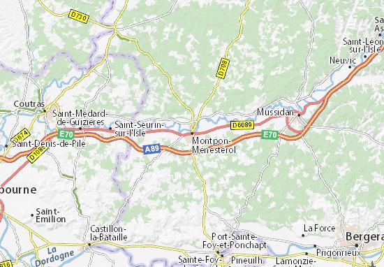 Montpon-Ménestérol Map