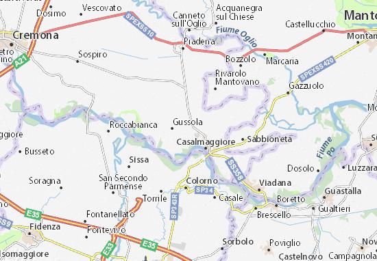 Karte Stadtplan Martignana di Po