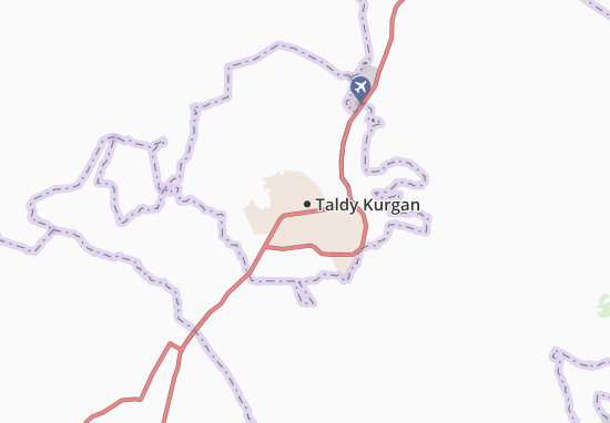 Taldykorgan Map