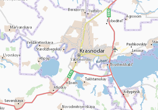 Krasnodar map detailed maps for the city of krasnodar viamichelin are you looking for the map of krasnodar find any address on the map of krasnodar or calculate your itinerary to and from krasnodar find all the tourist thecheapjerseys Images