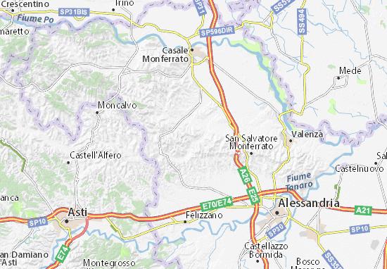 Alessandria Italy Map.Map Of Conzano Michelin Conzano Map Viamichelin
