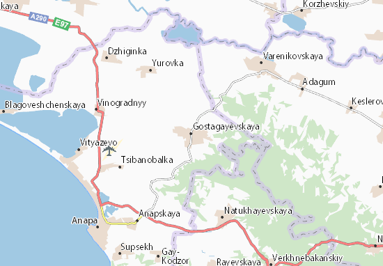 Kaart Plattegrond Gostagayevskaya
