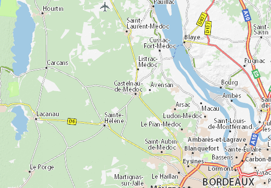 Mapa Plano Castelnau-de-Médoc
