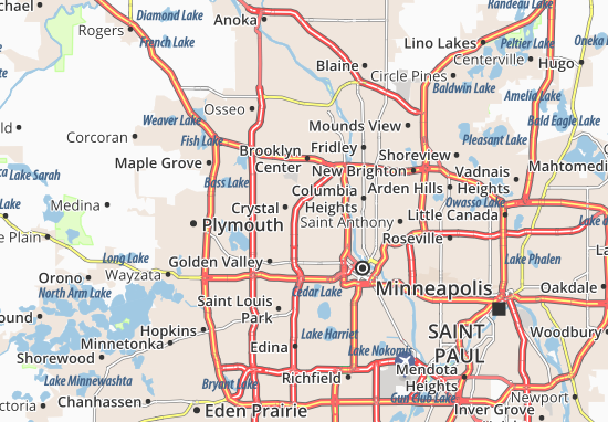 Robbinsdale Map